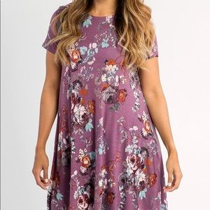 """A&D """"Blooming Splendor"""" Floral Swing Tunic - XL"""